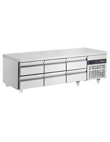 Blizzard PWN333-ECO 6 Drawer Low Height 620Mm Snack Counter 246L